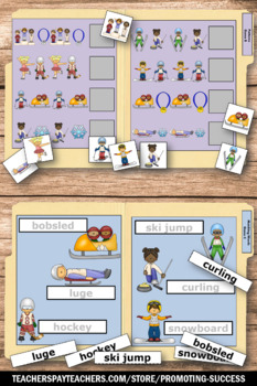 Winter Sports, Math and Literacy Centers File Folder Games Special Education