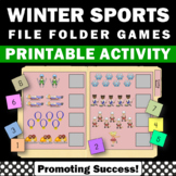 Winter Sports Activities, File Folder Games for Special Education