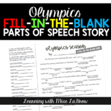 Winter Olympics Fill In the Blank Story Writing Activity - like Mad Libs
