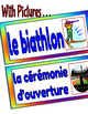 Winter Olympics-Flash Cards/ Word Wall Posters FRENCH Version