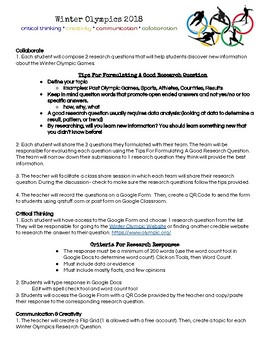 Winter Olympics Flipgrid Research Lesson Plan