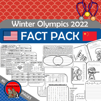 Winter Olympics Fun Fact Pack with Info Text, Comp Checks,