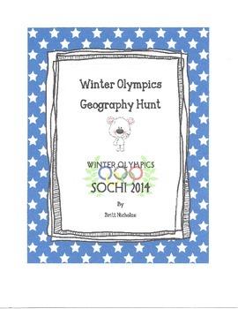 Winter Olympics Geography Hunt