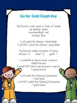Go for Gold! Glyph and Writing Activities