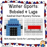 Winter Olympics Hundred Chart Mystery Pictures: Bobsled and Luge