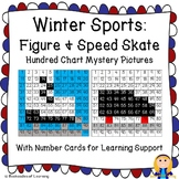 Winter Olympics Hundred Chart Mystery Pictures: Figure Skate & Speed Skate
