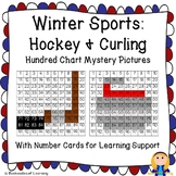 Winter Olympics Hundred Chart Mystery Pictures: Hockey and Curling