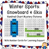 Winter Olympics Hundred Chart Mystery Pictures: Snowboarding & Skiing