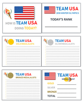 Winter Olympics - Interactive Bulletin Board