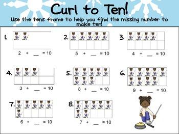 Winter Olympics Kindergarten Math Activites