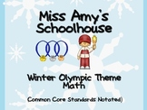 Winter Olympics Kindergarten Math Activites