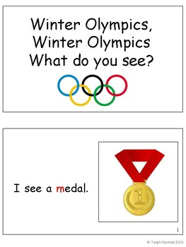 Winter Olympics Level A Reader