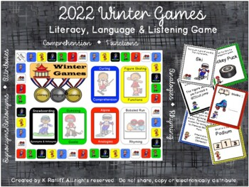 Winter Games: Literacy, Language & Listening Game