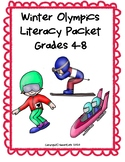 Winter Olympics 2018 Literacy Packet