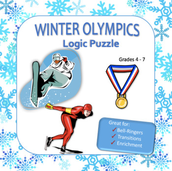 Winter Olympics Logic Puzzle - Great for Critical Thinking Skills!