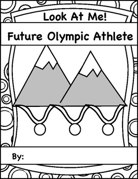 2018 Winter Olympics, Look At Me!  Future Olympic Athlete Writing Booklet