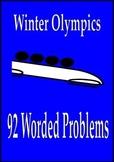 Winter Olympics Math Activities 92 Worded Problems Sochi 2014