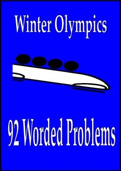 Winter Olympics Math Activities 92 Worded Problems Sochi 2014