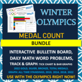 Winter Olympics - Math Bundle - Graph and Track Medal Count plus Daily Math