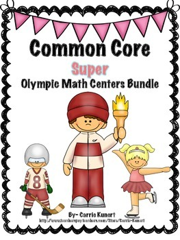 Winter Sports Math Centers SUPER Bundle (Common Core )