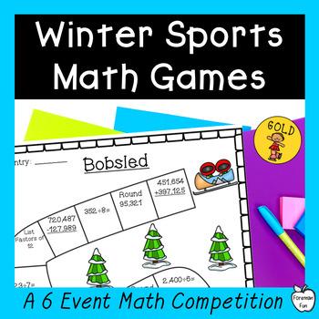 Winter Sports Math Games ~ 4th-5th Grades