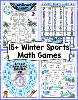 Winter Games Print and Play Math Games and Centers: 3rd Grade