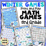 3rd Grade Winter Math Games: 3rd Grade Winter Sports Math Games and Centers