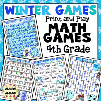Winter Sports Math Games and Centers: 4th Grade (Olympic Theme)
