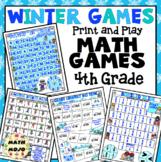 4th Grade Winter Math Games: 4th Grade Winter Sports Math Games and Centers