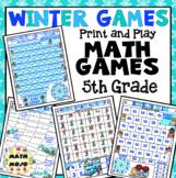 5th Grade Winter Math Games: 5th Grade Winter Sports Math Games and Centers