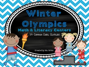 Winter Olympics Math & Literacy Centers {14 Common Core Aligned Centers}