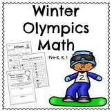 Winter Olympics Kindergarten Math Pack