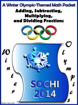 Winter Olympics Math Packet - Everything Fractions!
