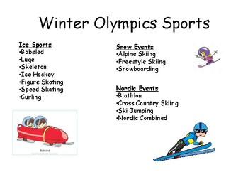 Winter Olympics Math Project