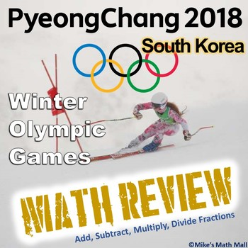 Winter Olympics Math Review - Everything Fractions