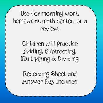Winter Olympics Math Task Cards
