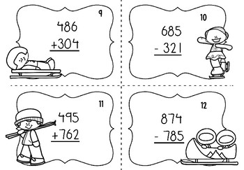 Winter Olympics 2018 Math Task Cards (3rd grade)