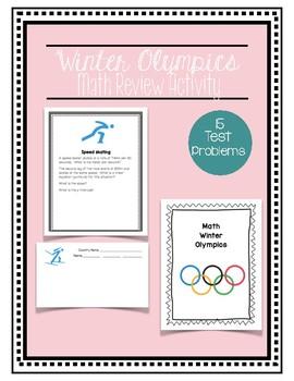 Winter Olympics Math Test Prep