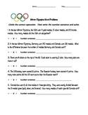 Winter Olympics Math Word Problems