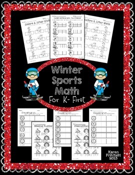 Winter Olympics Math - sequencing, missing number, counting on, & tens frames