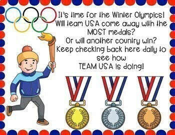Winter Olympics Medal Count Graphing Display