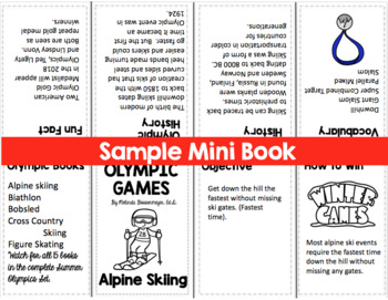Winter Olympics Mini Book- Speed Skating