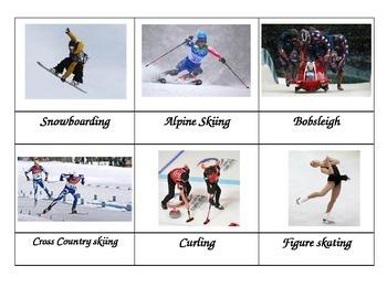 Winter Olympics Montessori Cards