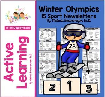 Winter Olympics Newsletter SPEED SKATER