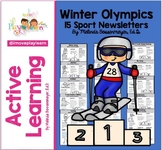 Winter Olympics Newsletter SPEED SKATER