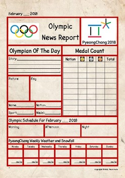 Winter Olympics Newspaper