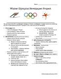 2018 Winter Olympics Newspaper Project