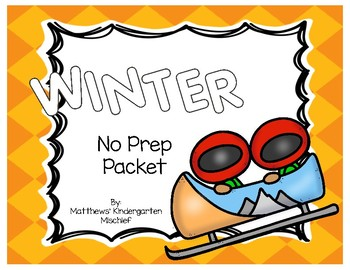 Winter Olympics No Prep Printables