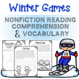 2018 Winter Games NonFiction Reading Comprehension and Vocabulary