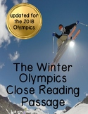 Winter Olympics Nonfiction Close Reading Comprehension Passage and Questions